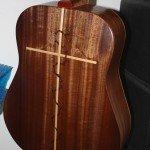 cross inlay guitar