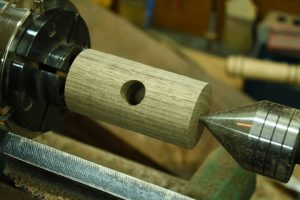 walnut toy hammer