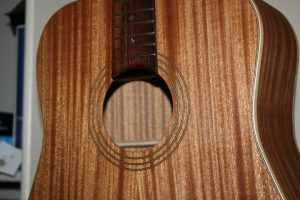 sapele acoustic guitar tru-oil