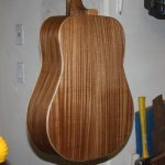 book matched sapele acoustic guitar