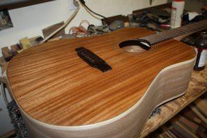 sapele guitar tru-oil
