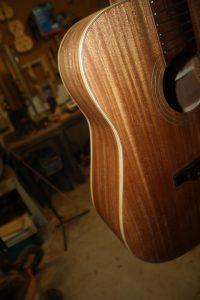 sapele guitar maple binding
