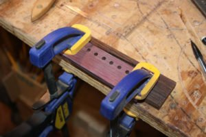 how to make an acoustic guitar bridge