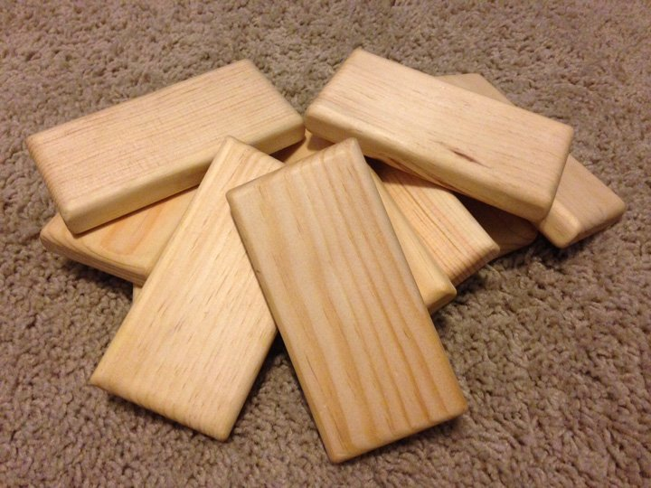 homemade wooden blocks