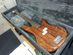making an electric bass