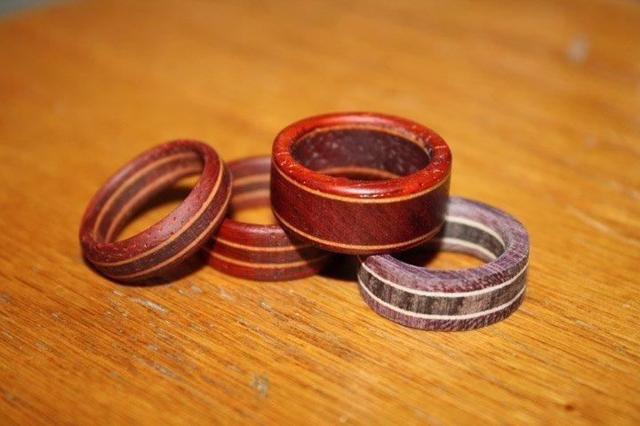 laminated wood ring