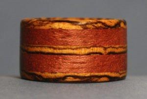 bocote and bubinga ring
