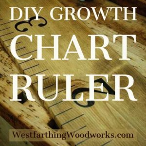 diy growth chart ruler tutorial
