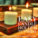 easy candle holder tutorial