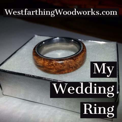 my wooden wedding ring