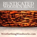 rusticated wooden ring