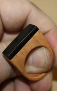 ebony and briar wooden ring