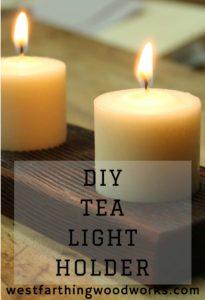 diy tea light holder