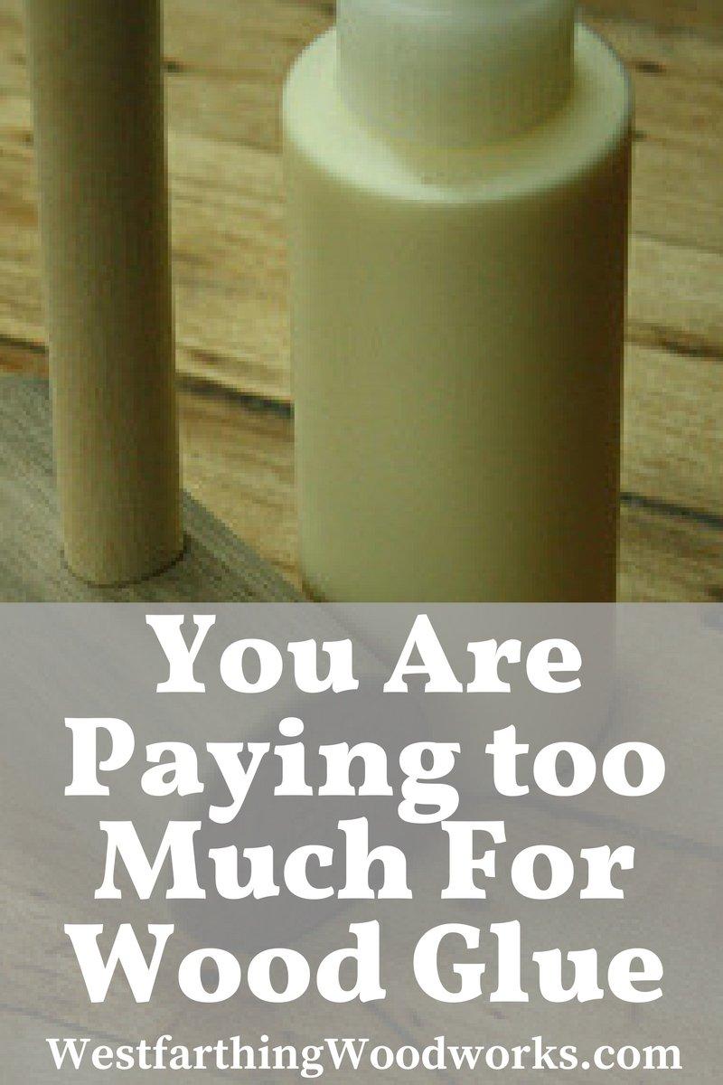 save money on wood glue