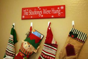 wooden sign the stockings were hung