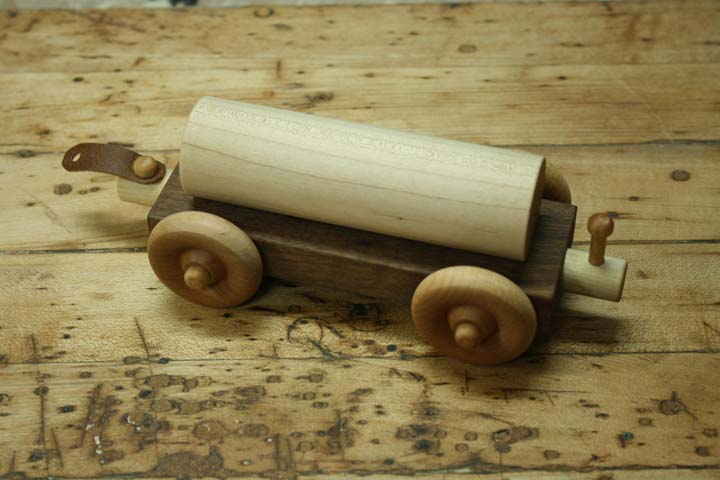 how to make a wooden train tanker