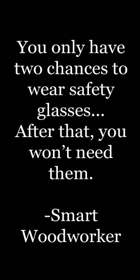 eye safety in the workshop quote