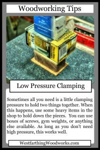 woodworking tips cards low pressure clamping