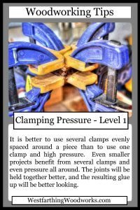 woodworking tips cards clamping pressure
