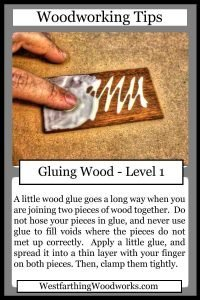 woodworking tips cards gluing wood