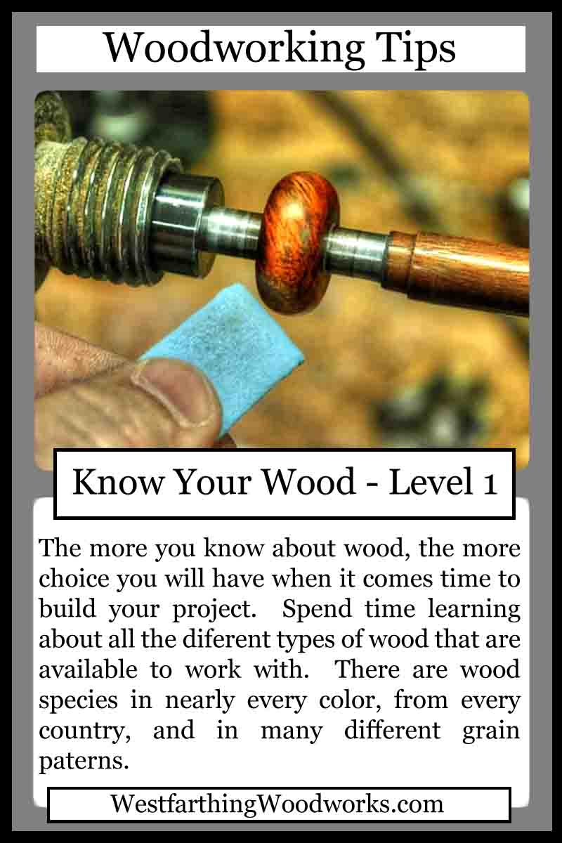 woodworking tips cards know your wood