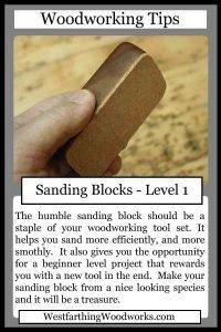 woodworking tips cards sanding block
