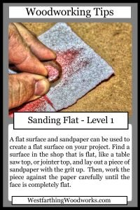 woodworking tips cards sanding flat