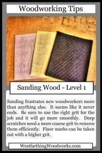 woodworking tips cards sanding wood
