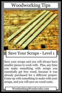 woodworking tips cards save your scraps