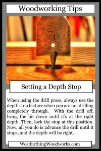 woodworking tips cards setting a depth stop