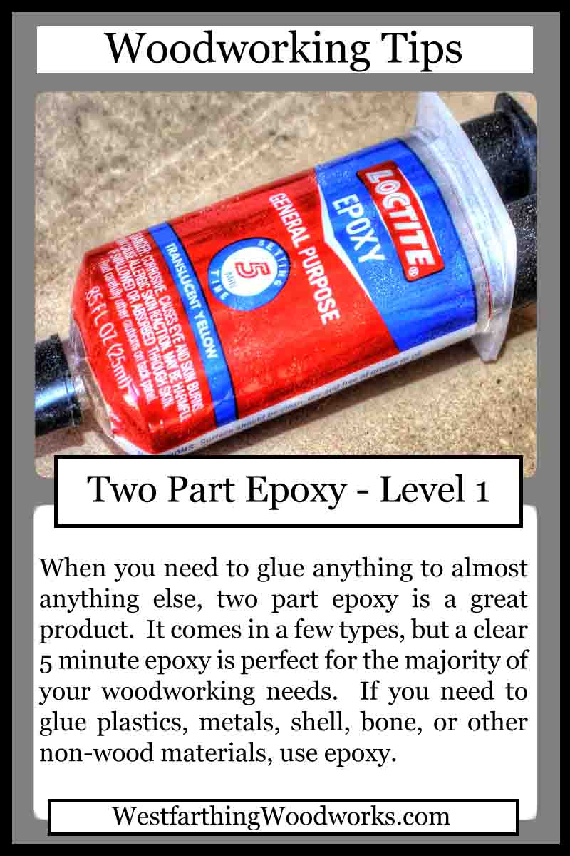 woodworking tips cards two part epoxy