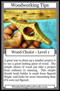 woodworking tips cards wood choice