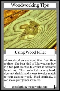 woodworking tips cards using wood filler