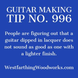 guitar making tip number 996