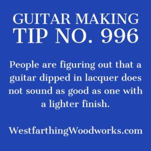 guitar making tip number 996