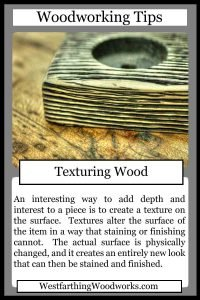 woodworking tips cards texturing wood