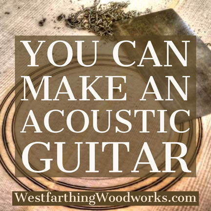 you can make an acoustic guitar