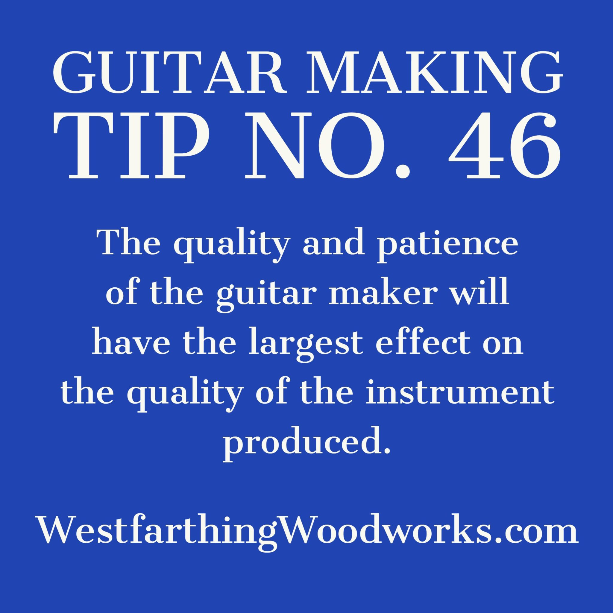 guitar making tip number 46