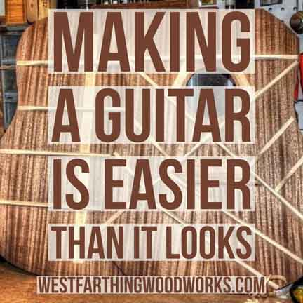 making a guitar is easier than it looks
