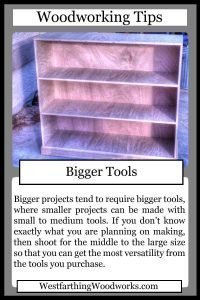 woodworking tips cards bigger tools