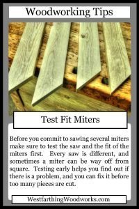 woodworking tips cards test fit your miters