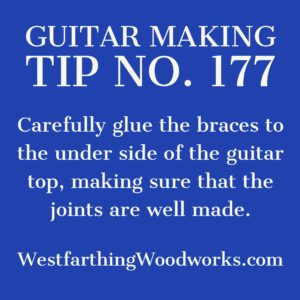 guitar making tip number 177 gluing the braces