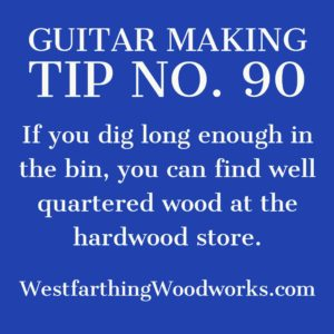 guitar making tip number 90 woodworking store wood shopping