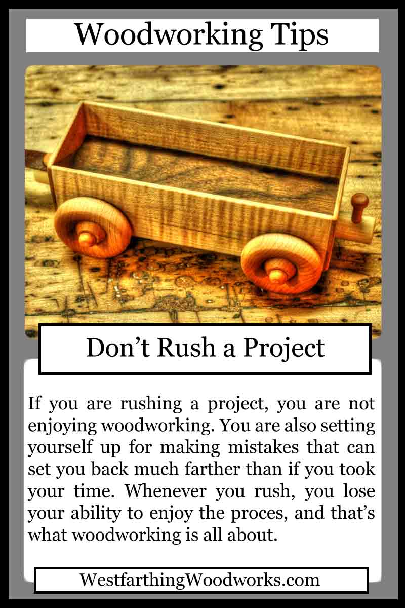 woodworking cards don't rush a project
