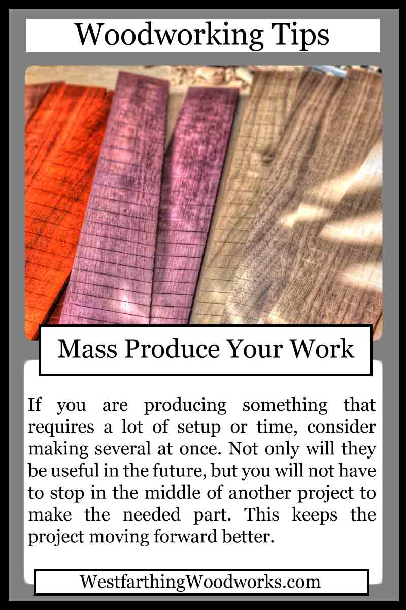 woodworking cards mass produce your work