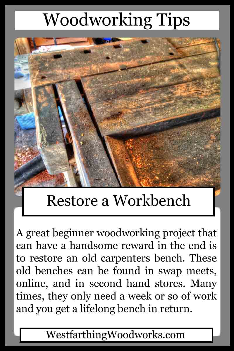 woodworking cards restore a workbench
