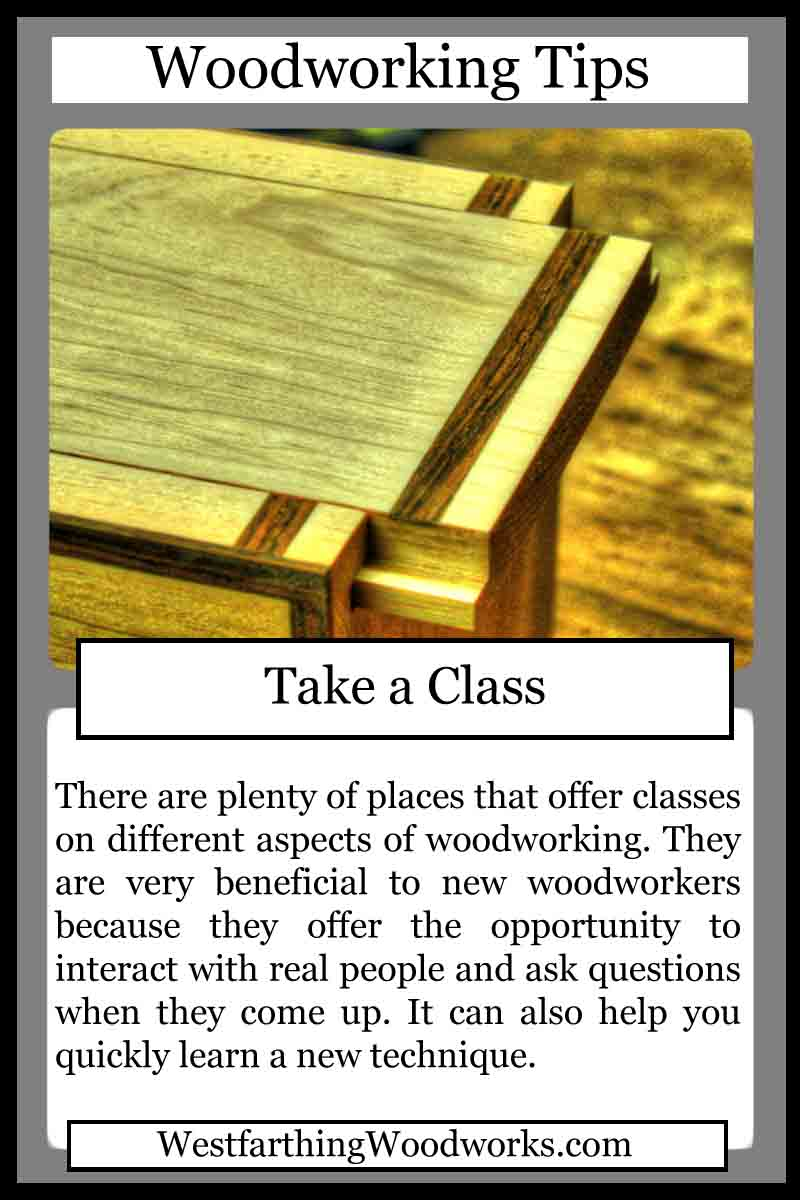 woodworking cards take a class