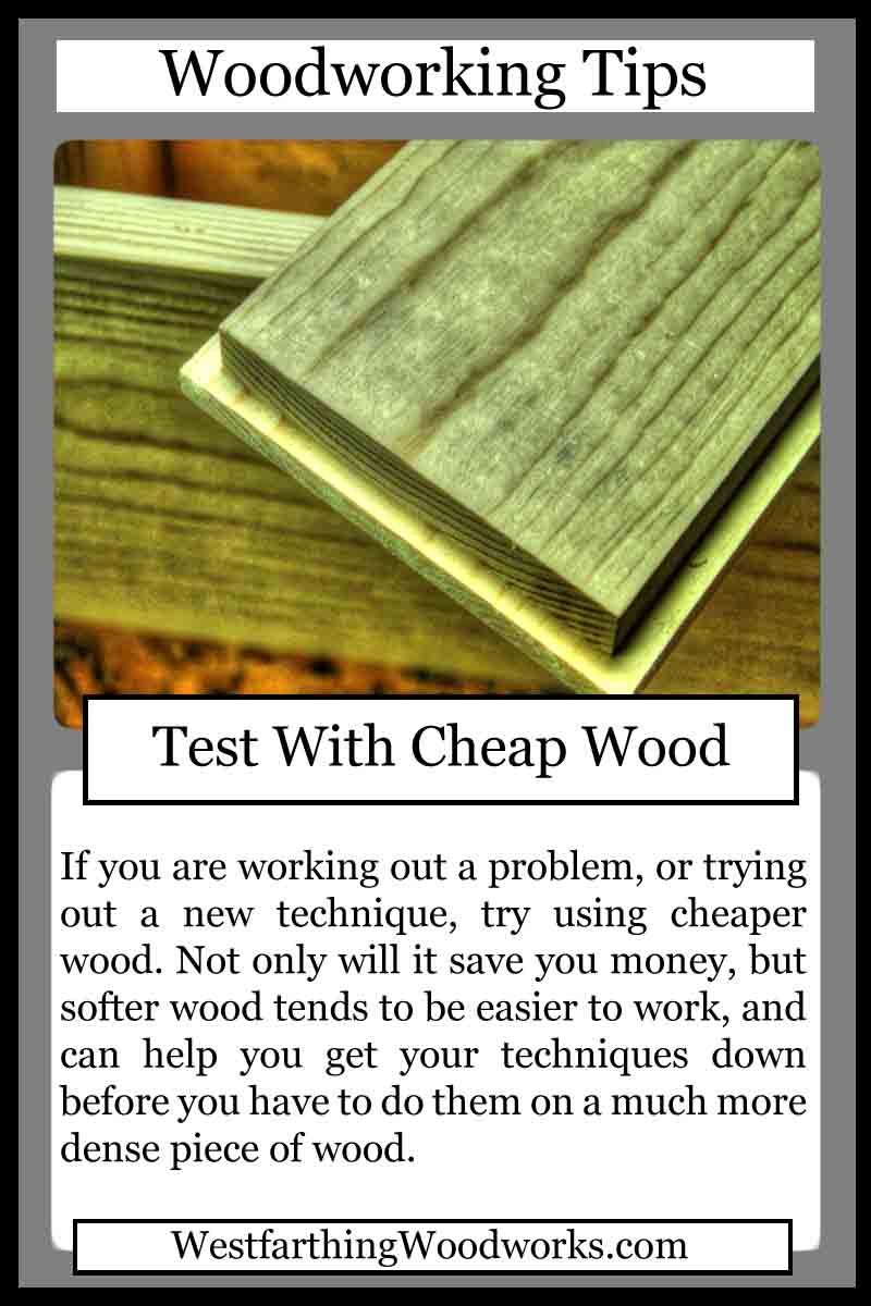 woodworking cards test with cheap wood