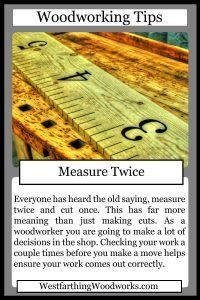 woodworking tips cards measure twice