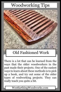 woodworking tips cards old fashioned work